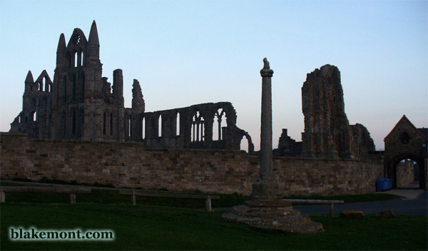Whitby Abbey in the sunset