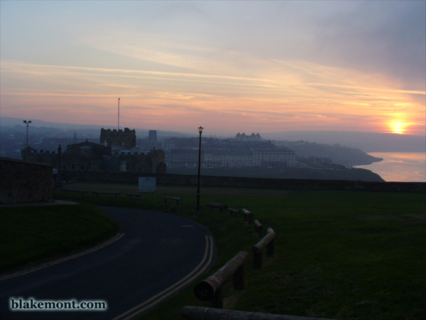 Sunset over Whitby, East Cliff
