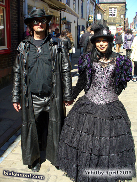 Whitby Goth Weekend, April 2015, photo, Victorian dress
