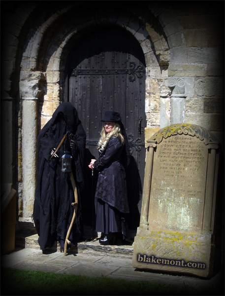 Whitby Goth Weekend, April 2015. Photo. Death and a witch