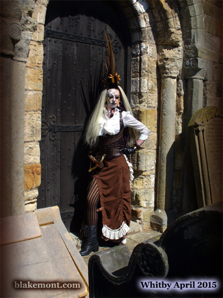 Whitby Goth Weekend, April 2015. Photo, Gothic fantasy model