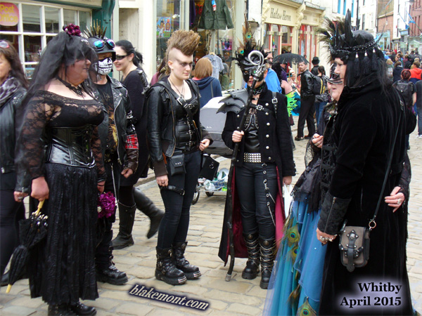 Whitby Goth Weekend, April 2015. Photo. Gothic gathering.