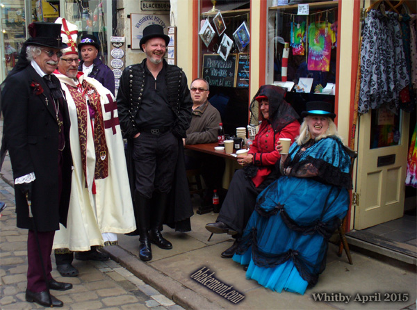Whitby Goth Weekend, April 2015. Photo. Vampires in Whitby