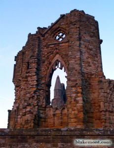Gothic ruins of Whitby Abbey