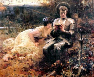 The Temptation of Sir Percival, 1894, Arthur Hacker